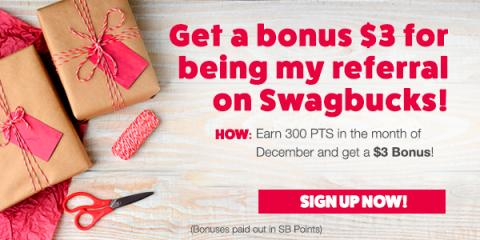 #ALT Get $3 when you sign up for Swagbucks in December