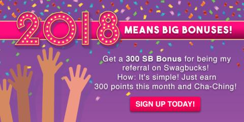 #ALT Get $3 when you sign up for Swagbucks in January