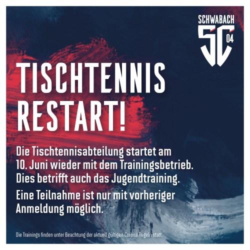 ReStart Tischtennis SC 04 Schwabach