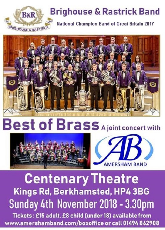 Best of Brass with Amersham and Brighouse & Rastrick @ Centenary Theatre | England | United Kingdom