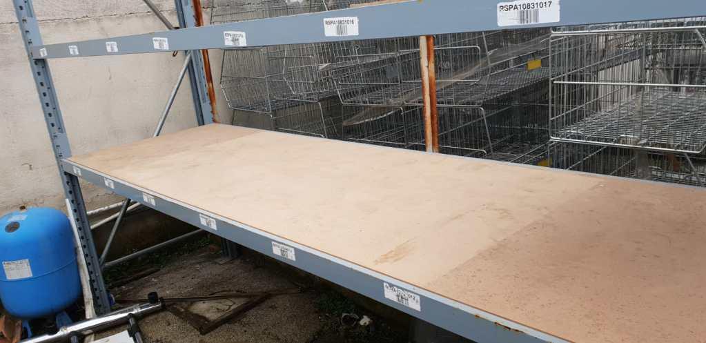 Ripaini in legno per scaffalature industriali