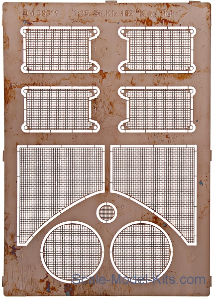 Grilles for Sd.Kfz.182 King Tiger