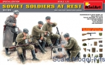 SOVIET SOLDIERS ON REST