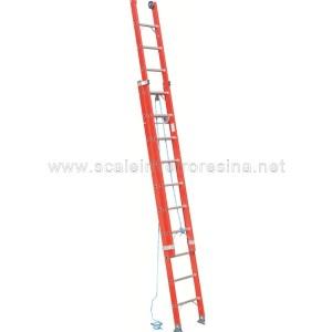 scala in vetroresina con fune a 2 rampe
