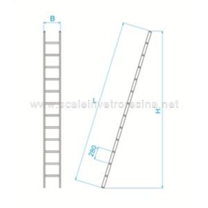 Scala semplice in vetroresina misure