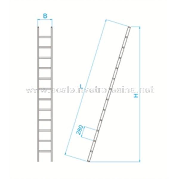 Scala in vetroresina semplice 6 gradini