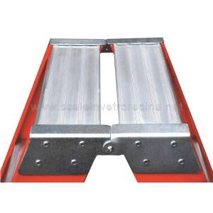 Pedana in alluminio per scale a doppia salita