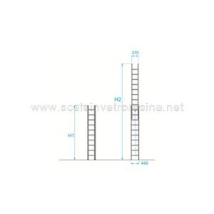 Scale in vetroresina tabella altezza