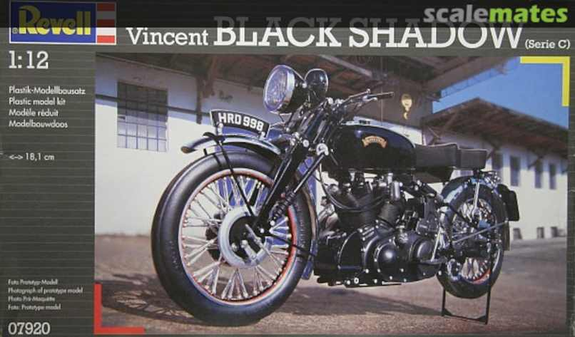 Vincent Black Shadow Revell 07920 2002