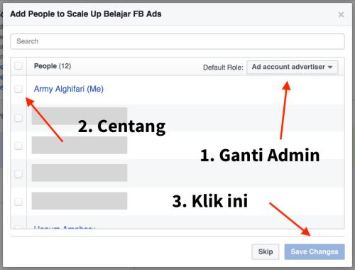 mengatur orang dalam business manager facebook ads