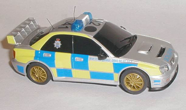 Police Scalextric car