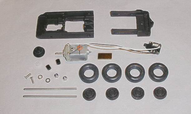 Slot car chassis kit