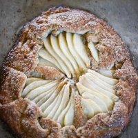 Hazelnut pear galette
