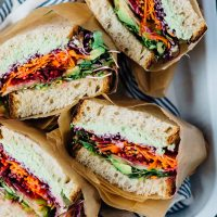 ultimate rainbow veggie sandwich