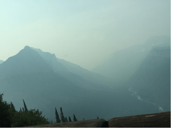 Fires drastically reduce visibility in Glacier National Park
