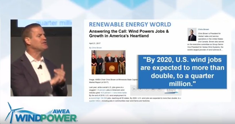 """Vestas' Chris Brown to Wind Power Industry: Don't Be Distracted By Fear; Next Five Years Will Be Best Five Years of Your Life"""""""
