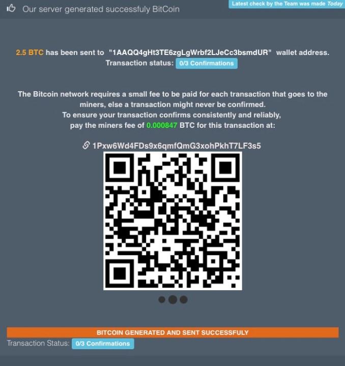 Limited Bitcoin Generator - Post Generator
