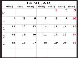 kalender 2016 ukenummer