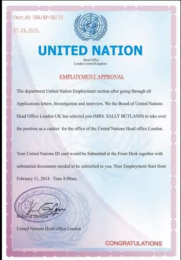 Certif UN