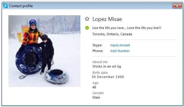 SCAMMERS on SKYPE: lopez.misae4 (Lopez Misae): Account N1 / lopez.misae5 (Lopez Misae): Account N 2