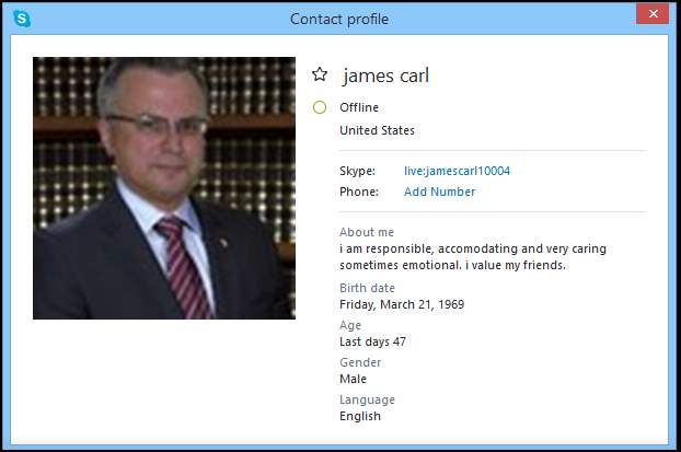 SCAMMERS on SKYPE: live:jamescarl10004 (James Carl)