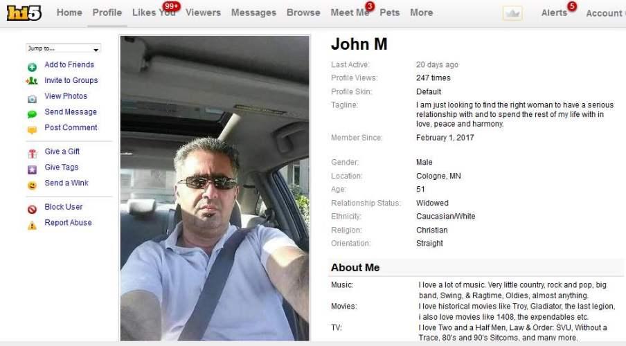 Romance Scam/Loan Scam: John Miguel