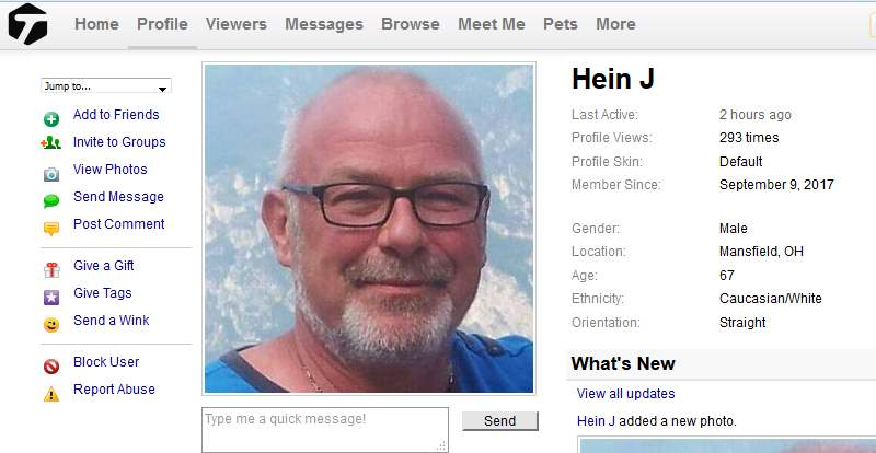 Congrats-your-busted 54: 419 Scam/Romance Scam: HEIN J.