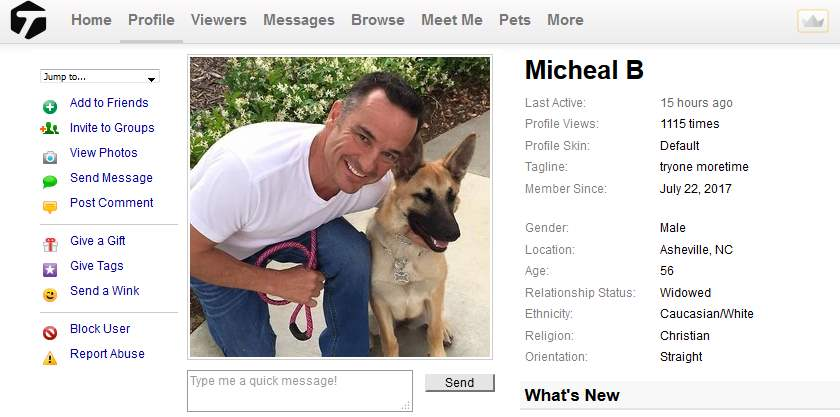 Congrats-your-busted-44: 419 Scam/Romance Scam: MICHEAL BLOOMS