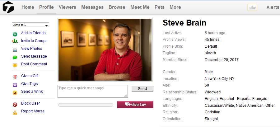 Congrats-your-busted-66: 419 Scam/Romance Scam: STEVE BRAIN