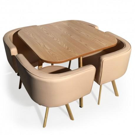 table et chaises scandinaves dinner beige