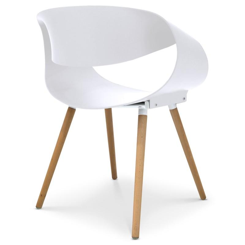 Chaises Scandinaves Design Ritas Blanc Lot De 2 Pas Cher
