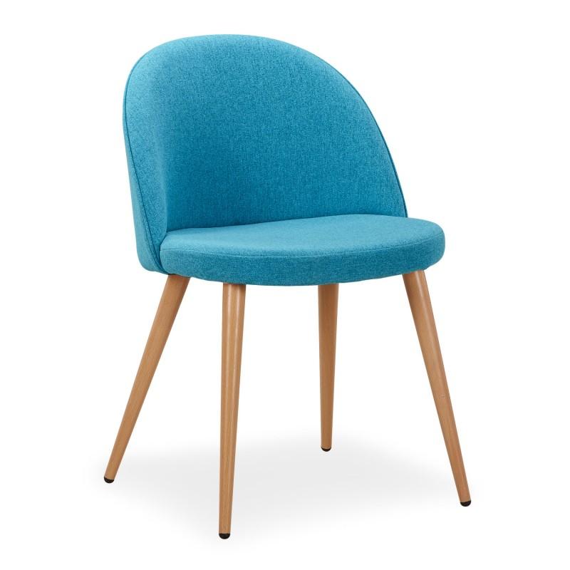 chaise scandinave bleu canard fifthy