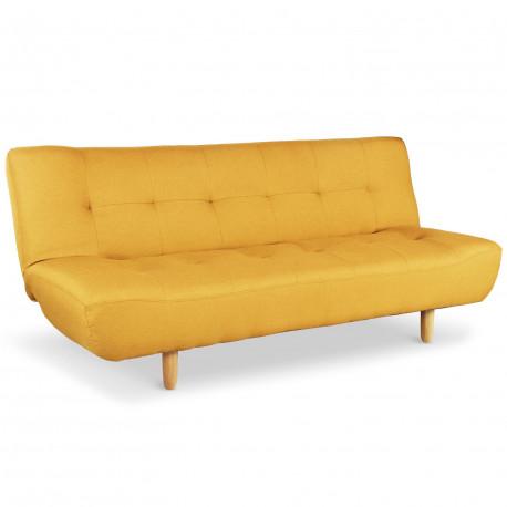 canape convertible scandinave jaune zilw