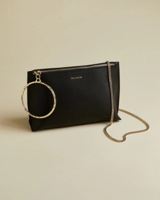 Ted Baker Ingaah Leather Bracelet Bag Black