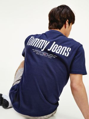 Tommy Jeans Back Logo Tee Blue