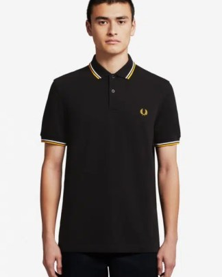 Fred Perry Twin Tipped Shirt Black