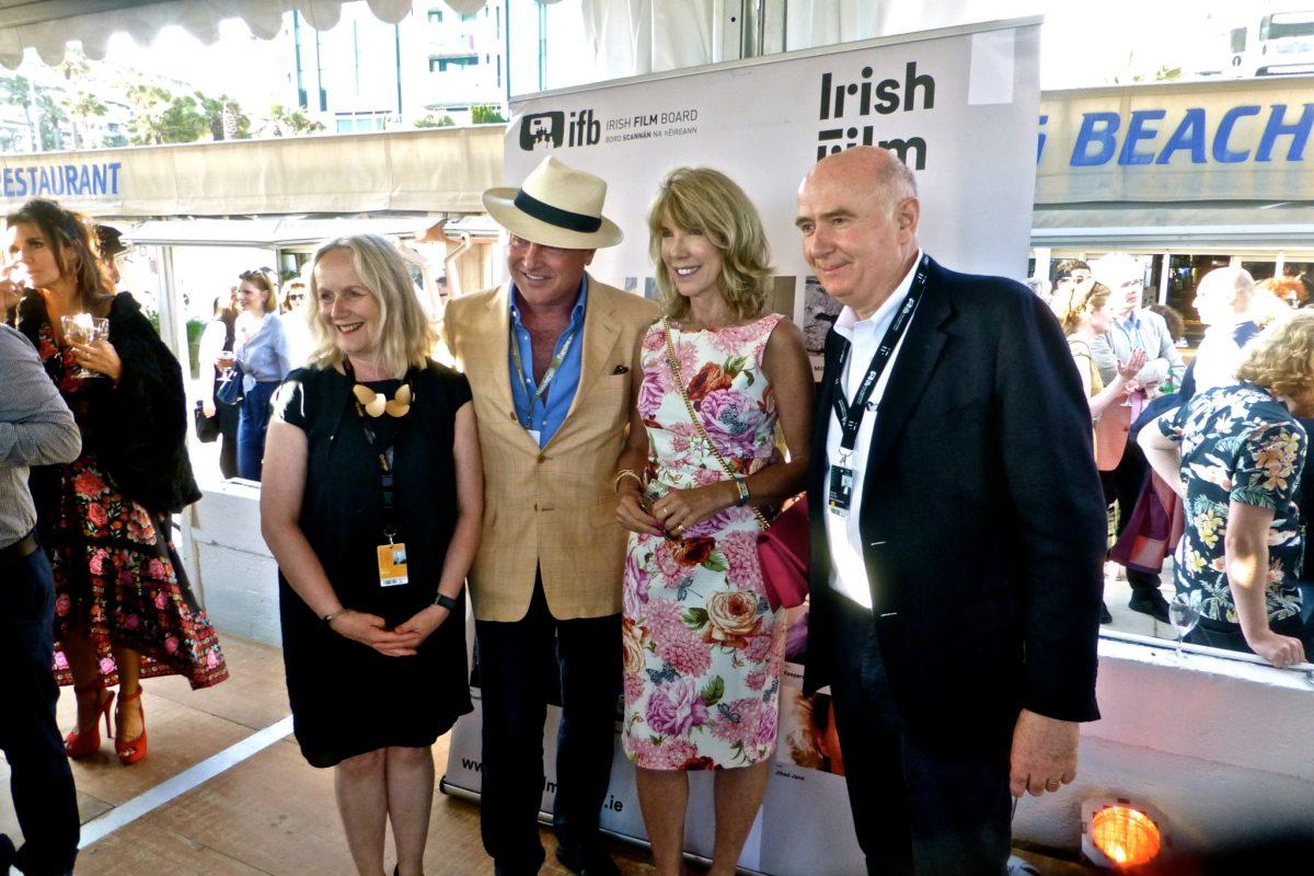 IFB Chair Annie Doona, Michael Flatley, Ambassador Patricia O'Brien, and IFB CEO James Hickey