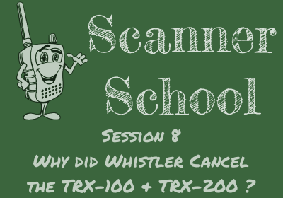 Why did Whistler cancel the TRX-100 and TRX-200?