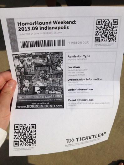 HorrorHound Weekend Ticket