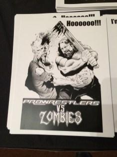 Pro Wrestlers Vs. Zombies Hacksaw Print
