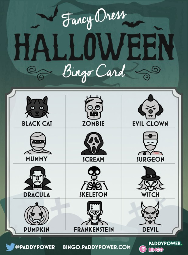 Halloween Bingo - Fancy Dress