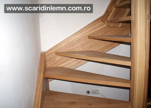 scara interioara lemn masiv preturi  scara cu vang si trepte economice