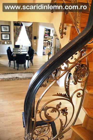 Mana curenta continua de lemn curbat la scari interioare din lemn masiv, pret si calitate