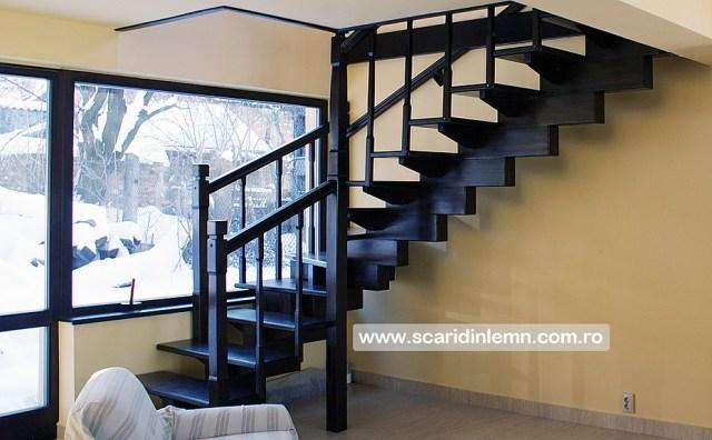 amenajari scara interioara de lemn masiv modulara mana curenta balustrii din lemn preturi calitate