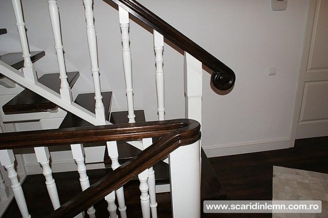 design proiectare pret scara interioara de lemn masiv placare trepte de lemn cu mana curenta curbare lemn vang modular