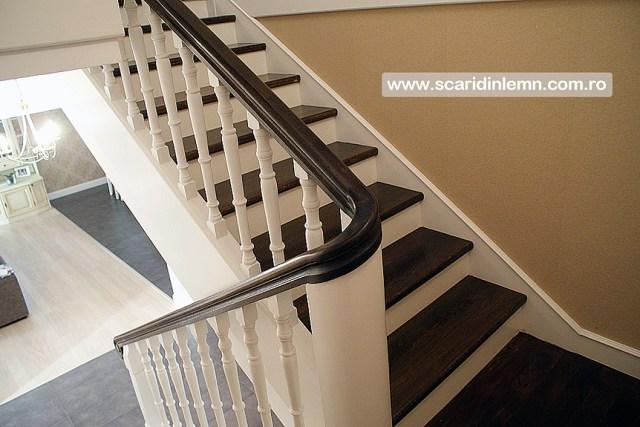 oferta pret scari interioare de lemn masiv vang modular placare trepte de lemn cu mana curenta curbarea lemnului