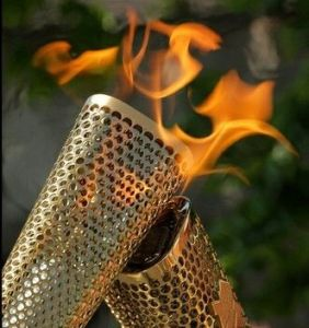 Memories of the Olympic Torch passing through Conwy