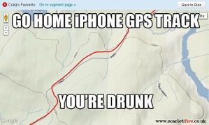Go home iPhone GPS track, you're drunk