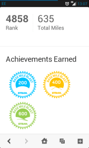 Strava Basemile Blast Achievement badges