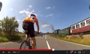 The day we out-cycled a steam train.